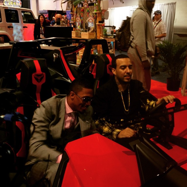 Nick & French Montana Do A Takeover Twitter at Day 2 of CES 2015