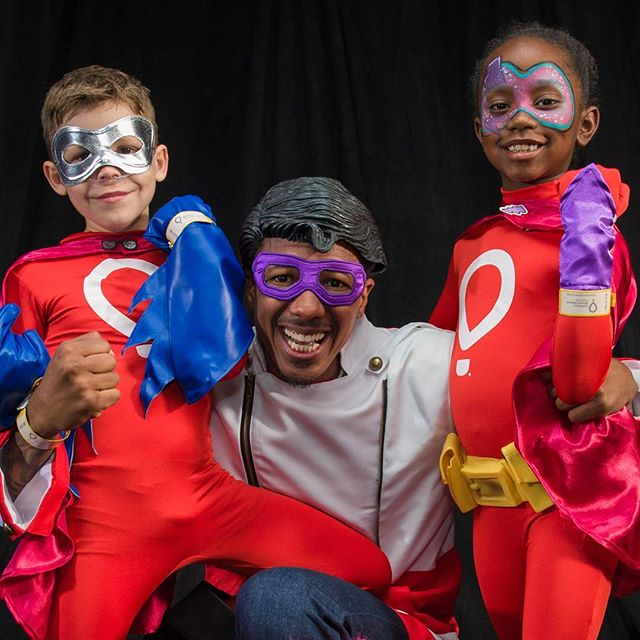 It's Purple Lightning, Nate-O and Mr. Boom aka Nick Cannon to the Rescue